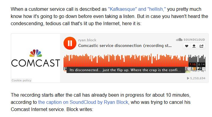 comcast embarrassed by the service call making internet rounds